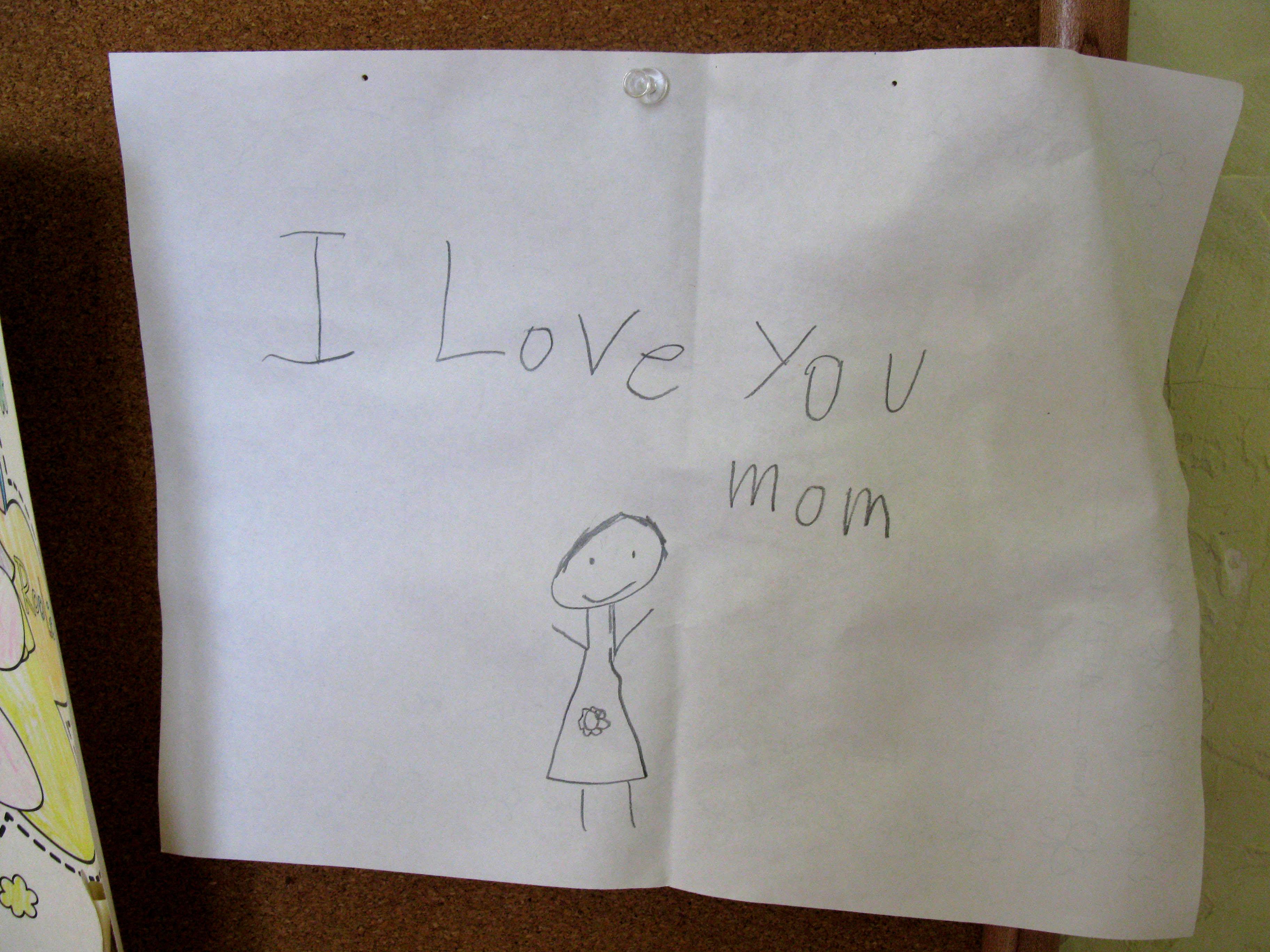 I love you written 100 times