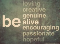 image of a poster outlining positive values