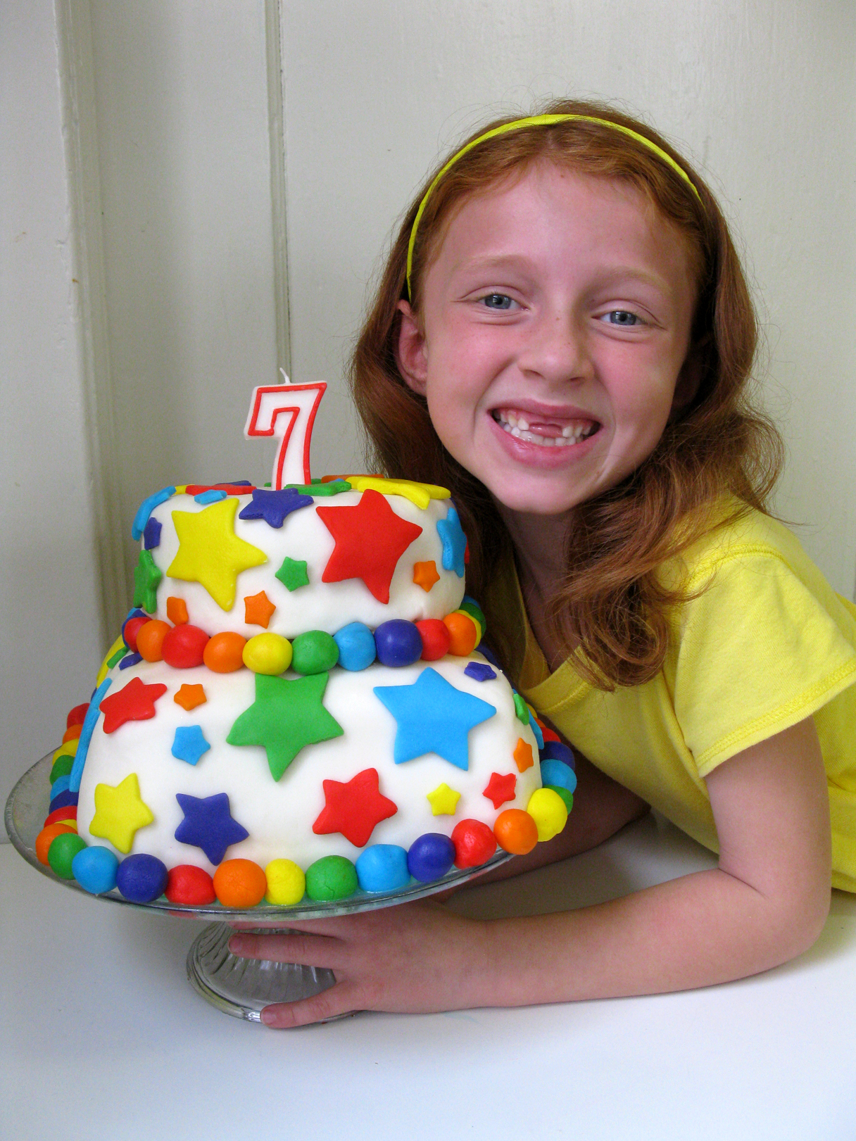 Cake Design For 7th Birthday Girl : The Beautiful Rainbow Fondant Cake and Rainbow Birthday ...