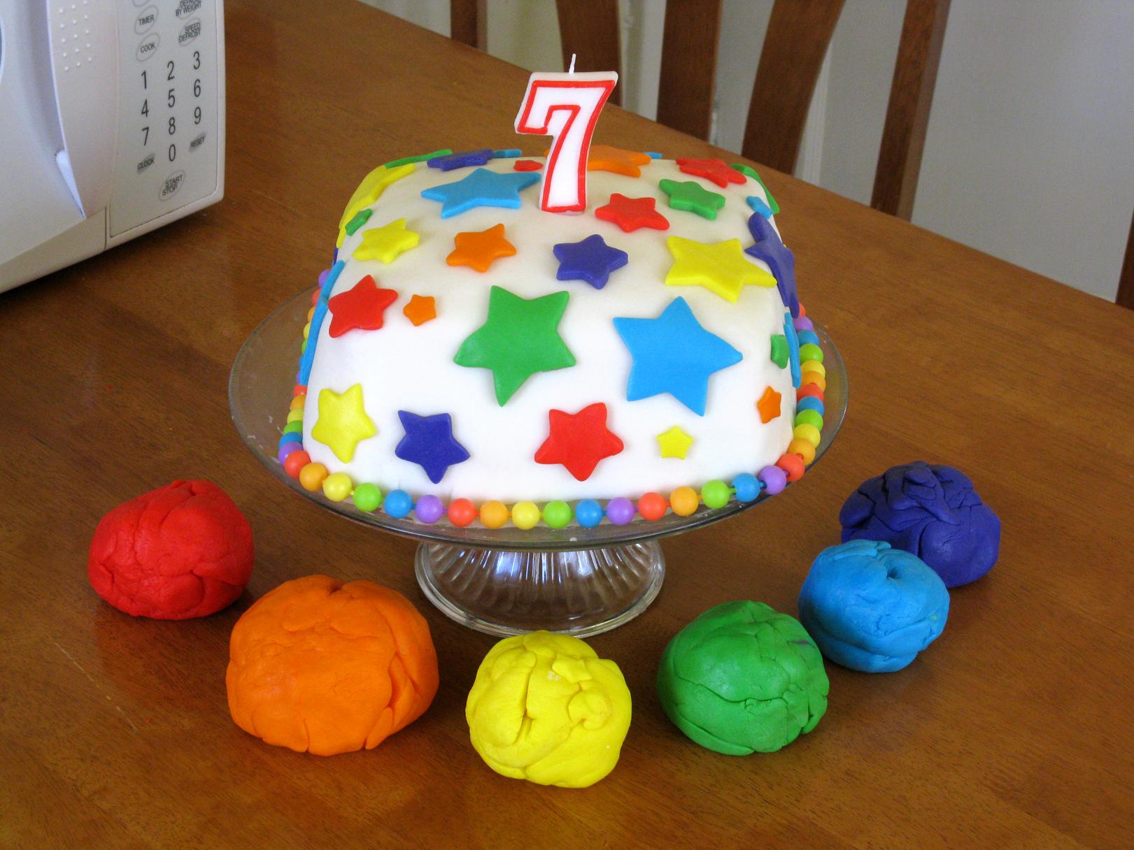 The Beautiful Rainbow Fondant Cake and Rainbow Birthday Party