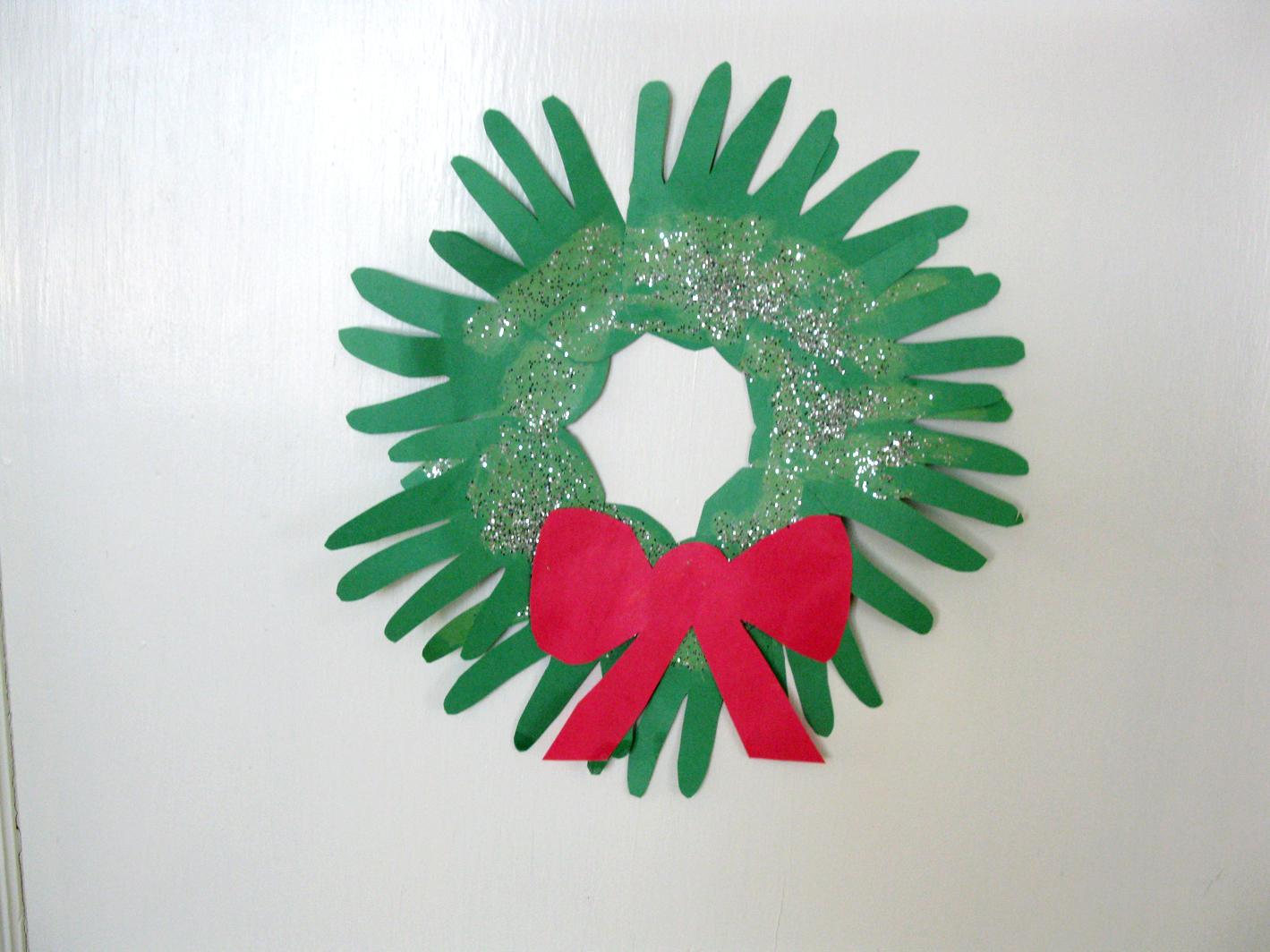 Handprint Christmas Wreaths Live Learn Love Eat