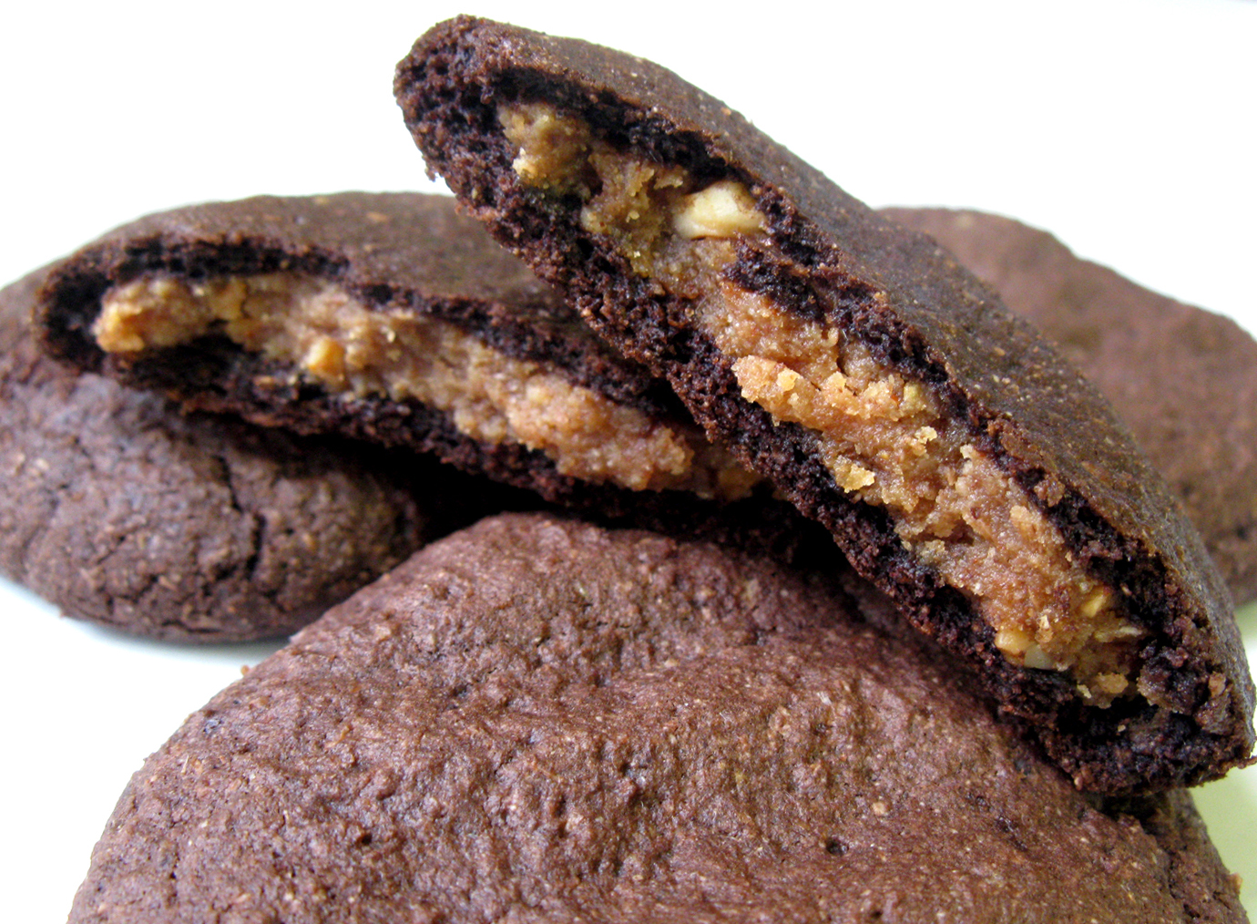 Chocolate Almond Butter Stuffed Cookies | Live. Learn. Love. Eat.