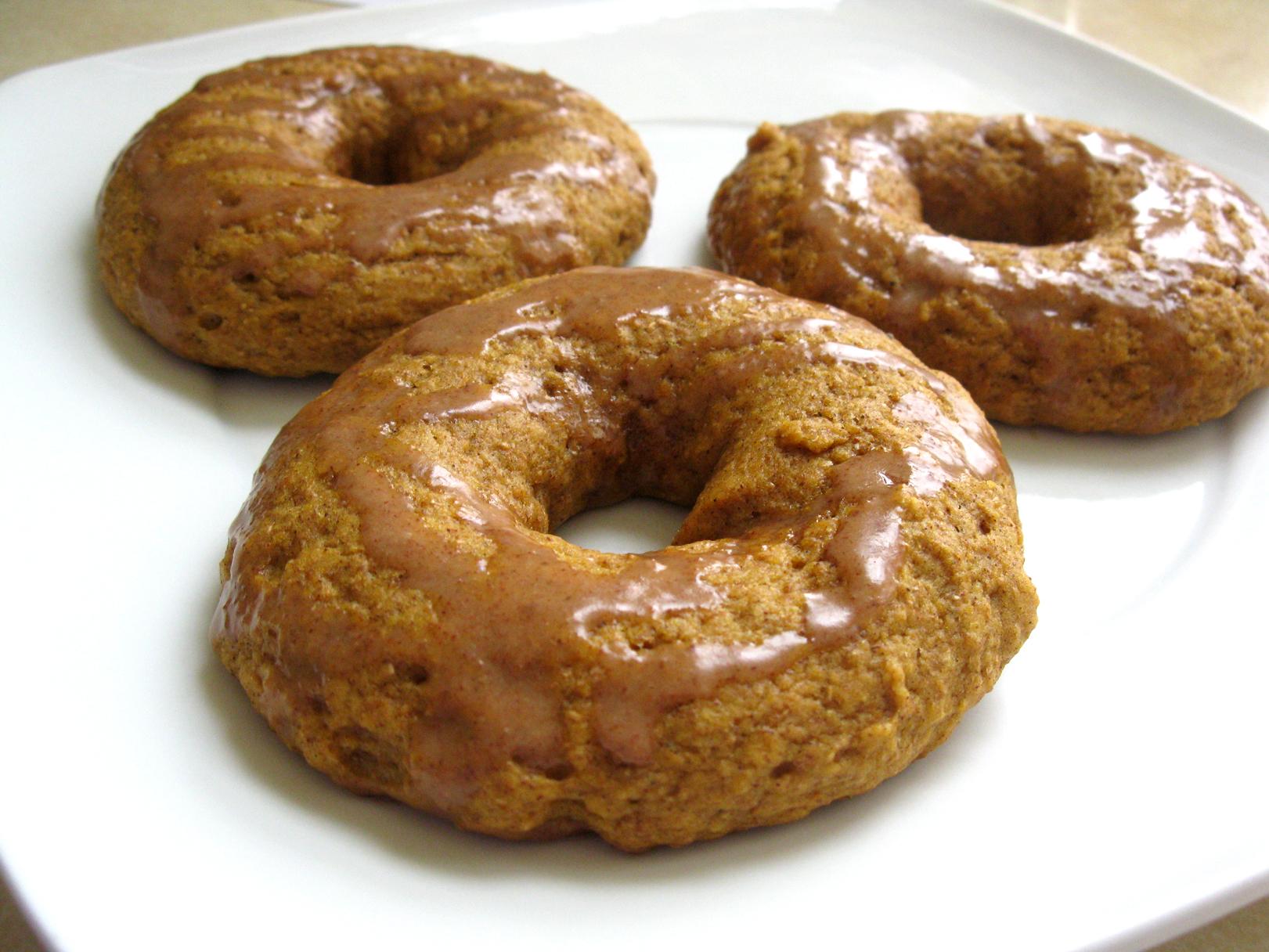 Cinnamon-Glazed Baked Pumpkin Doughnuts | Live. Learn. Love. Eat.