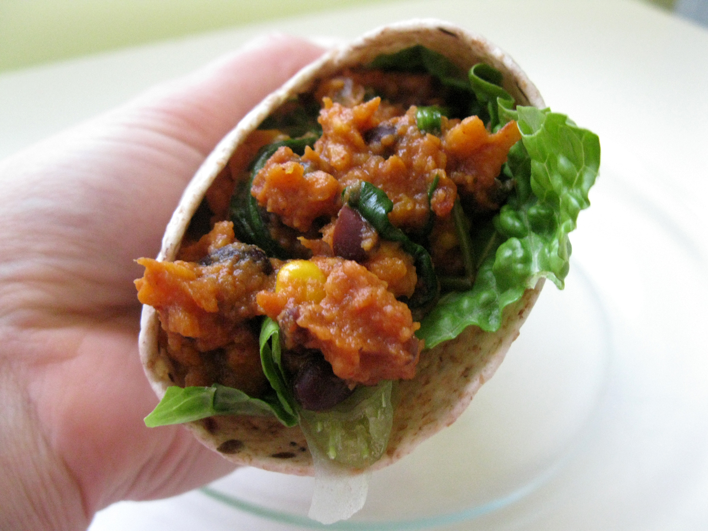Sweet Potato Black Bean and Spinach Burritos | Live. Learn. Love. Eat.