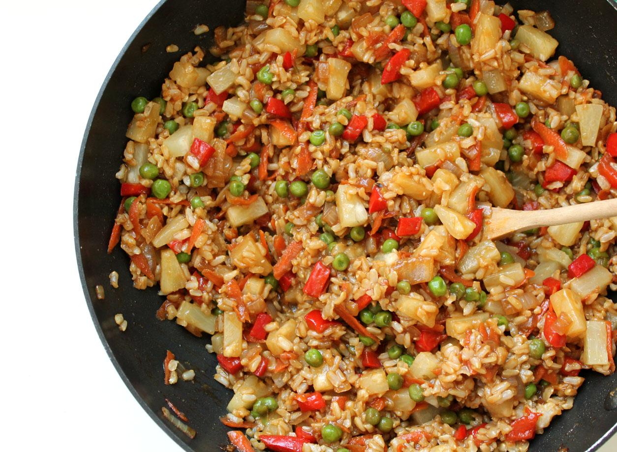 vegan pineapple ginger fried rice recipe | Live. Learn ...