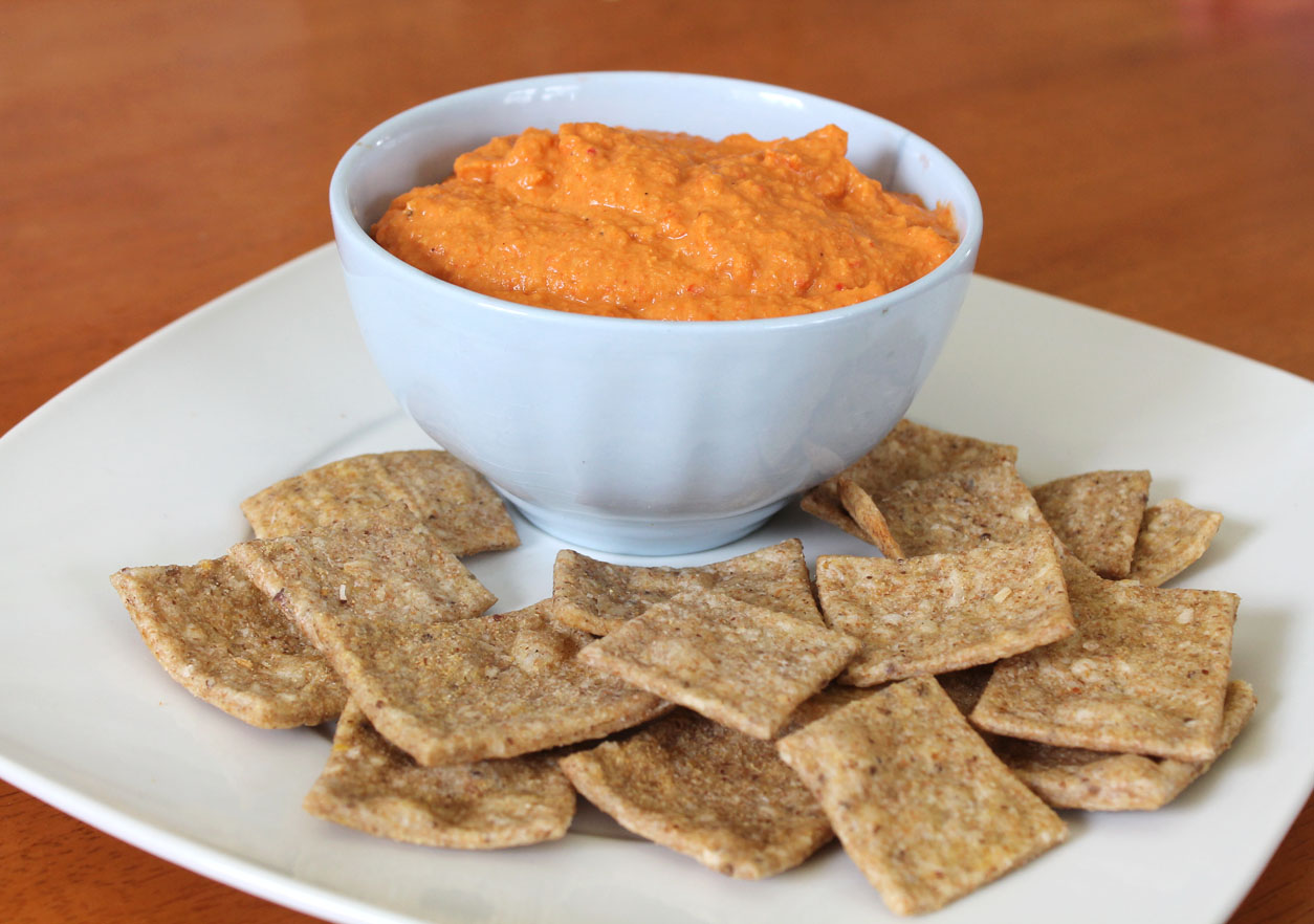 red pepper hummus roasted red pepper hummus garlic and red peppers 2 ...