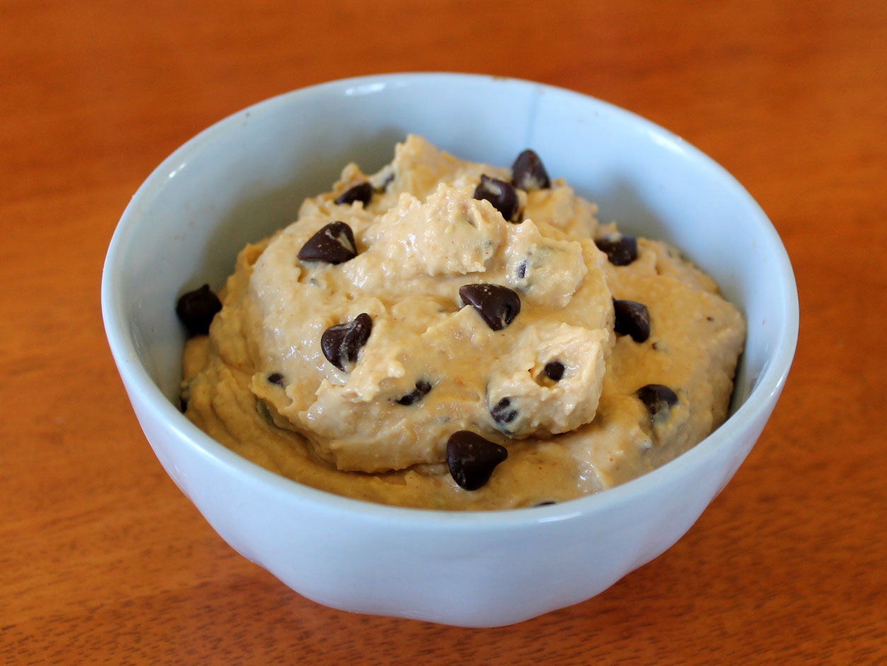 Secret Ingredient Peanut Butter Chocolate Chip Cookie Dough Dip ...