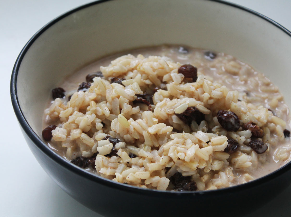 Cinnamon Raisin Brown Rice Breakfast Pudding | Live. Learn. Love. Eat.