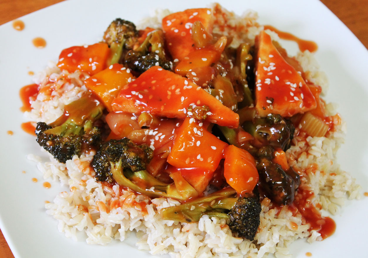 sweet and sour tofu vegetable stir fry recipe fried tofu with sweet ...