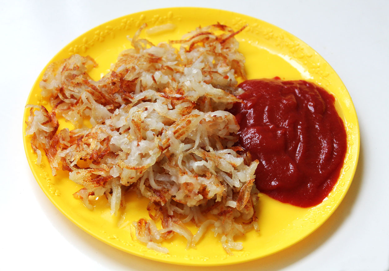 Shredded Hash Brown Potatoes & Momz Ketchup | Live. Learn. Love. Eat.