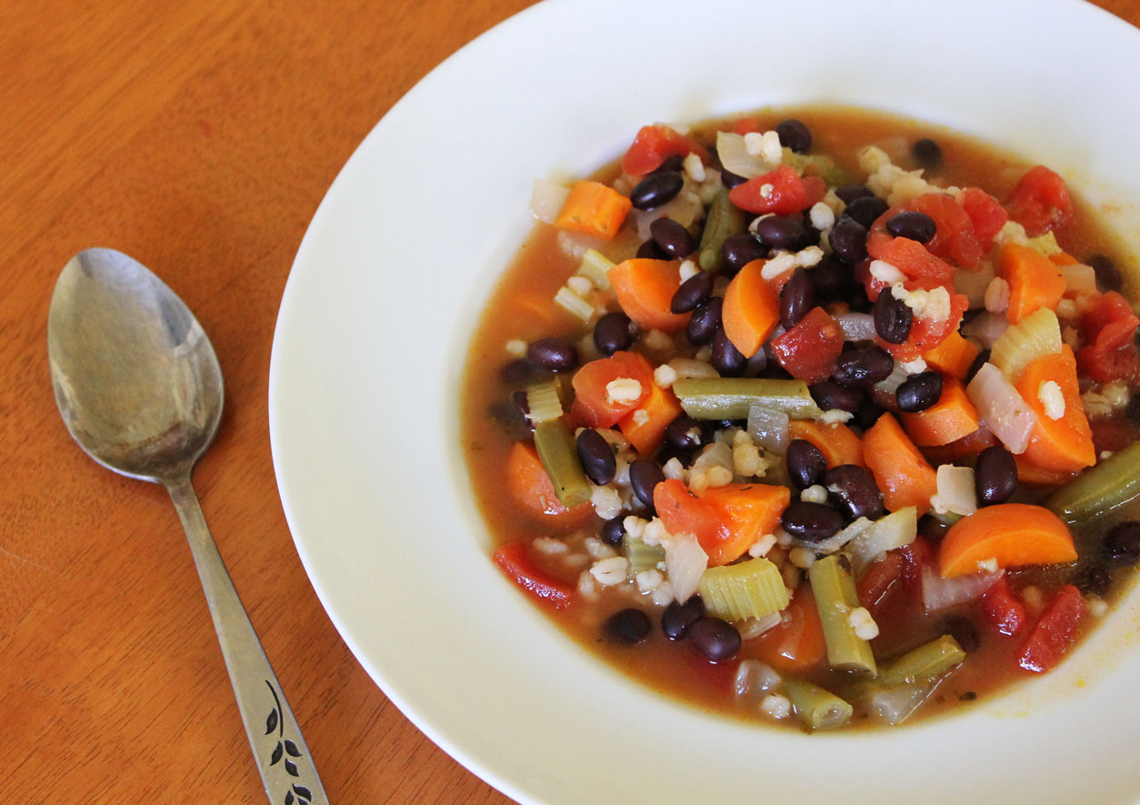 Black Bean and Barley Vegetable Soup | Live. Learn. Love. Eat.