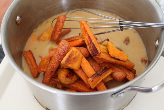 ... soup in 2 batches in a food processor or blender on high, until pureed