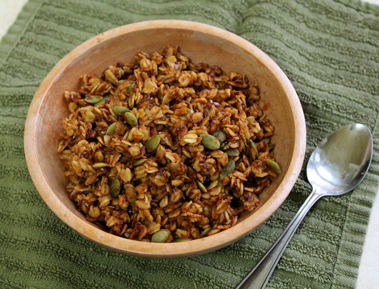 Cinnamon Pumpkin Flax Granola