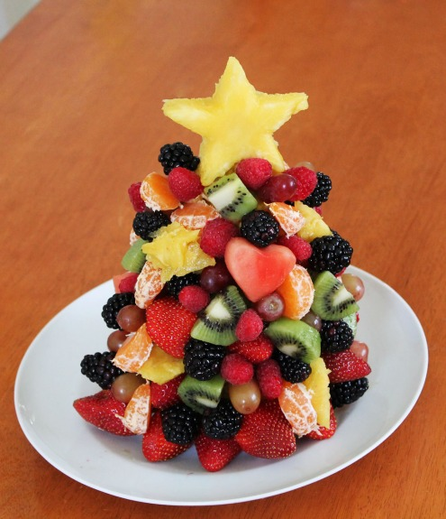 edible fruit christmas tree craft