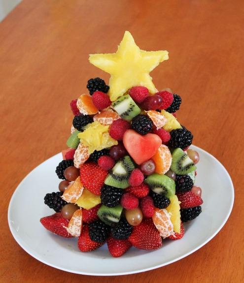 edible fruit christmas tree craft