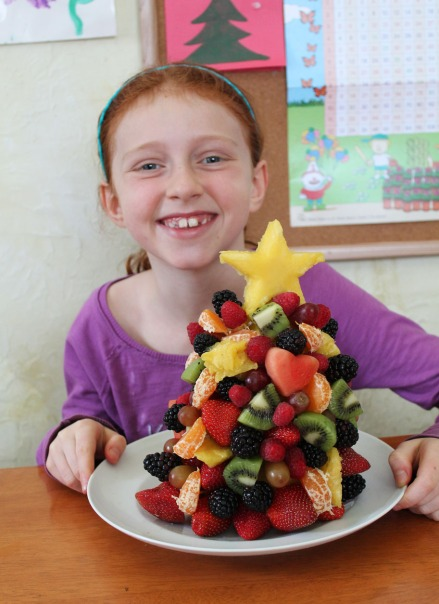fruit christmas tree craft for kids