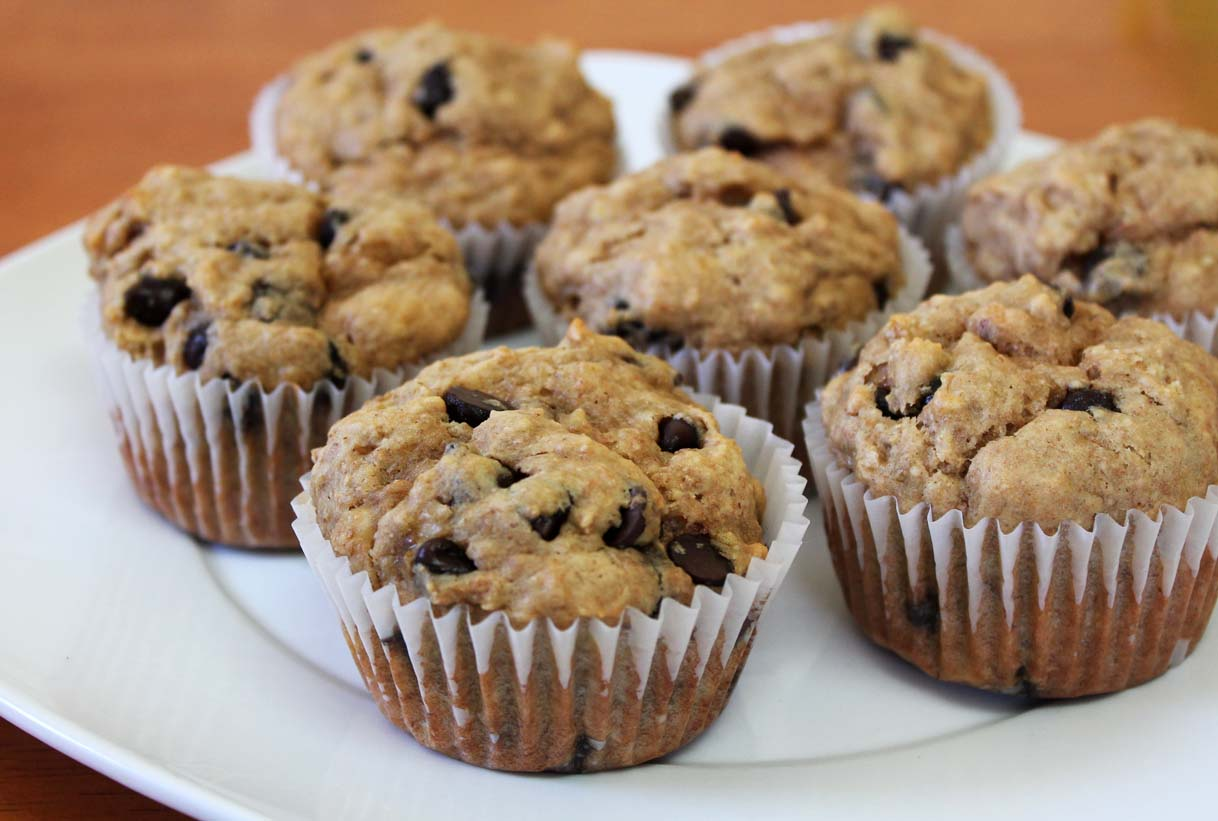 """Healthier"" Banana Peanut Butter Chocolate Chip Muffins ..."