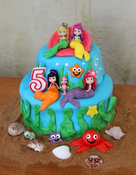 under the sea fondant cake