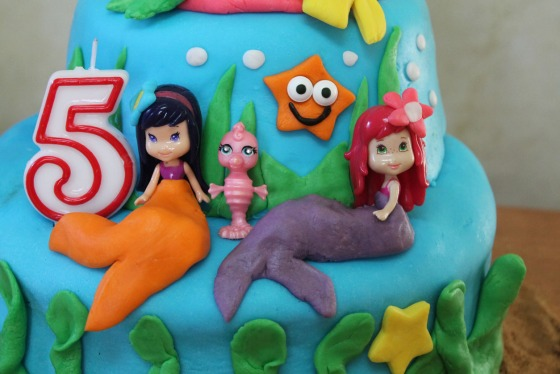 strawberry shortcake mermaid cake marshmallow fondant