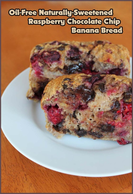 Raspberry Chocolate Chip Banana Bread