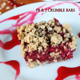 PB & J Crumble Bars
