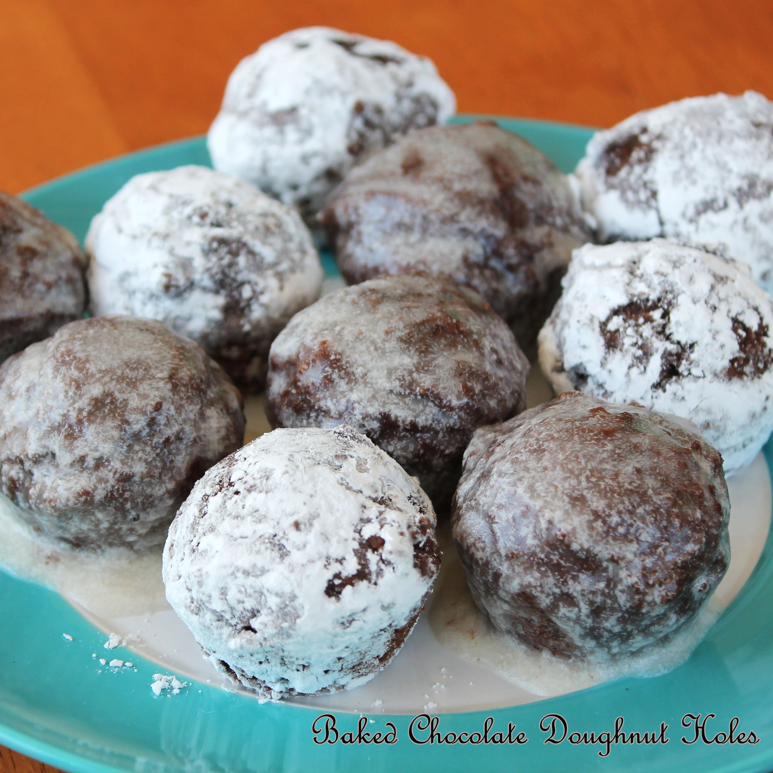 chocolate doughnut holes for book | Live. Learn. Love. Eat.